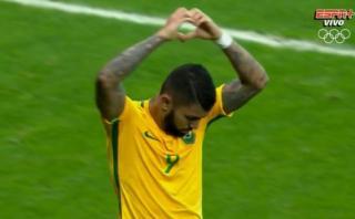 Barbosa anotó primer gol de Brasil en los Juegos Río 2016