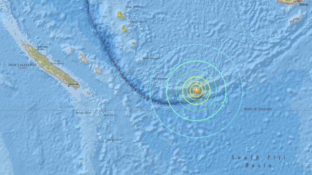 Terremoto de 7,6 grados sacudió el Pacífico Sur