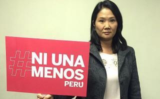 """Keiko Fujimori en apoyo a #NiUnaMenos: """"Esta lucha es de todas"""""""