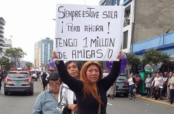 #NiUnaMenos: originales carteles se vieron en la marcha [FOTOS]