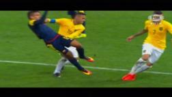 Brasil: Neymar provocó este conato de bronca ante Colombia