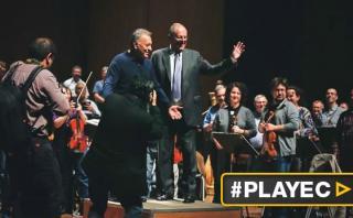 PPK dirigió a la Orquesta Filarmónica de Israel