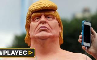 Colocan estatuas de Donald Trump desnudo en ciudades de EE.UU.