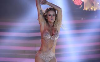 """""""El gran show"""": Leslie Shaw brilló como Britney Spears"""