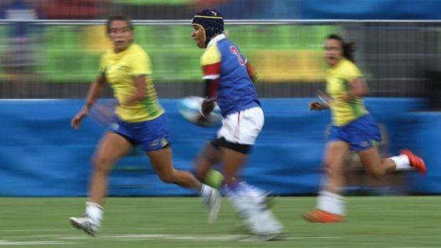 Nathalie Marchino jugó con la selección de Colombia en el torneo de rugby 7. Tiene un empleo de mercadeo en Twitter, en California. (Foto: BBC)