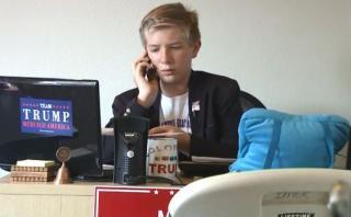 Tiene 12 años y dirige una de las oficinas de campaña de Trump