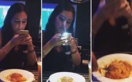Estropeó foto de comida que pretendía subir su cita a Instagram