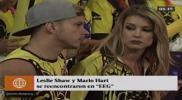 Esto es guerra: Leslie Shaw se encontró con su ex Mario Hart