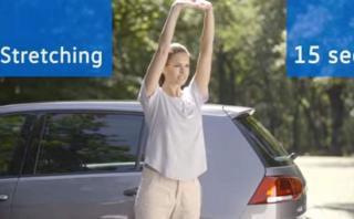 Volkswagen te enseña a estirarte en la ruta [VIDEO]