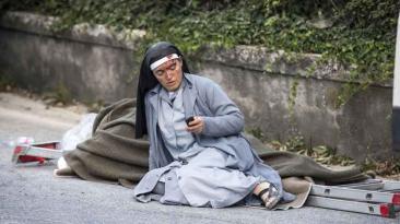 El devastador panorama que dejó el terremoto en Italia