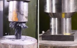 Fibra de carbono resistió el poder de la prensa hidráulica