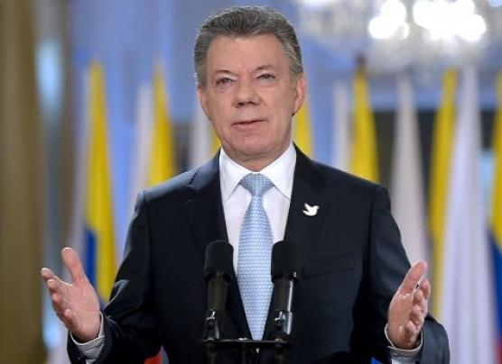 """Santos: """"Hoy podemos decir que se acabó la guerra en Colombia"""""""