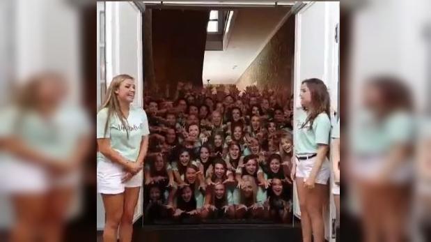 """Esta fraternidad de universidad da la bienvenida """"al infierno"""""""