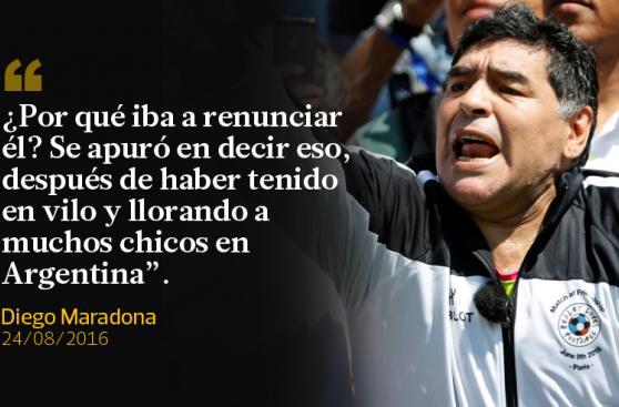 Diego Maradona y sus recientes frases sobre Lionel Messi