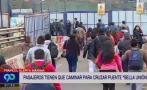 Puente Bella Unión: el vía crucis de los pasajeros por tráfico