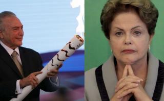 Temer recibe antorcha paralímpica mientras Dilma está en vilo