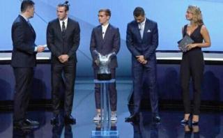 Cristiano Ronaldo también se sorprendió con 'look' de Griezmann