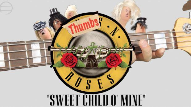 "Banda ""Pulgares N' Roses"" tocó versión de ""Sweet child o' mine"""