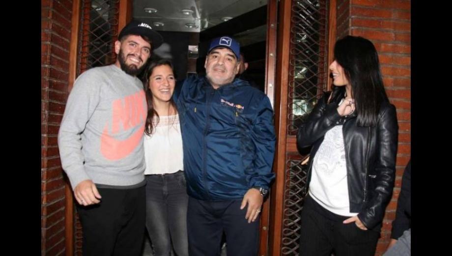 Diego Maradona: así fue el reencuentro con su hijo Diego Jr.