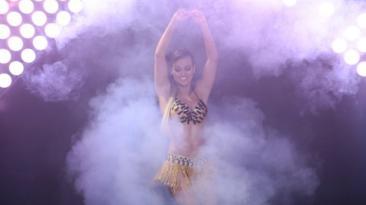 """""""El gran show"""": Angie Arizaga ensayó con Nicola Porcella"""