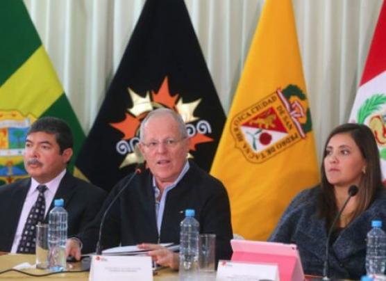 PPK se reunió con autoridades regionales y municipales del sur