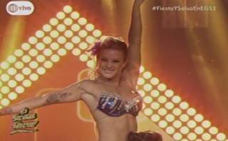 """""""El gran show"""": así bailó Leslie Shaw [VIDEO]"""