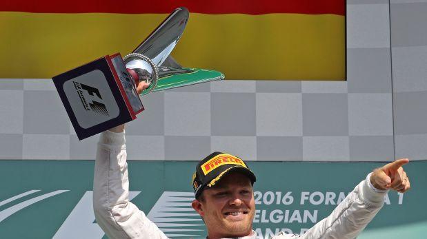 Fórmula 1: Nico Rosberg consiguió el Gran Premio de Bélgica