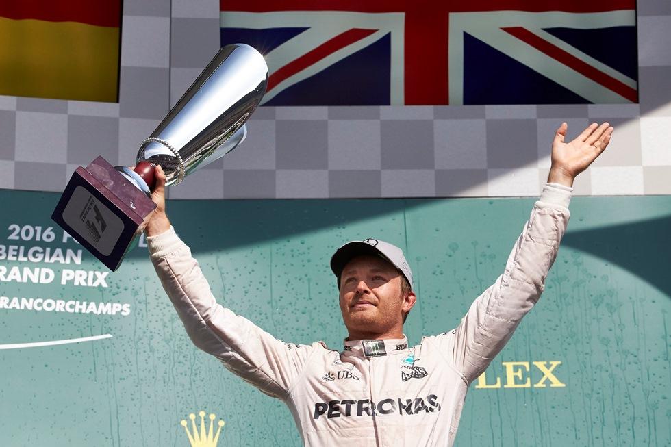 Nico Rosberg se ubica en el segundo lugar de la clasificación general de la Fórmula 1.