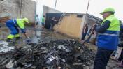 Retiran escombros que dejó incendio en comunidad de Cantagallo