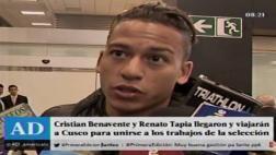 Selección: Cristian Benavente y Renato Tapia llegaron a Lima
