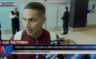 "Paolo Guerrero: ""Hay un gran grupo para sacar esto adelante"""