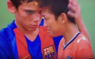 Niños del Barcelona dieron hermoso ejemplo de valores [VIDEO]