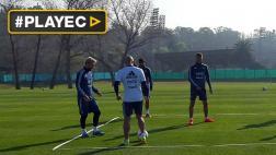 Lionel Messi trabajó a doble turno con selección en Argentina