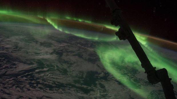 NASA: así se ve una aurora austral desde el espacio