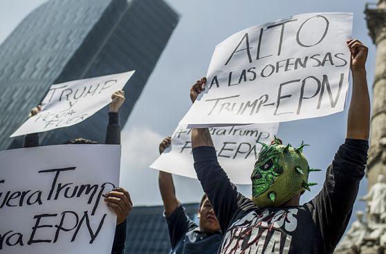 México le pide a Donald Trump que se vaya a casa [FOTOS]