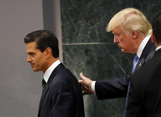 """Trump en México: """"EE.UU. tiene el derecho de construir un muro"""""""