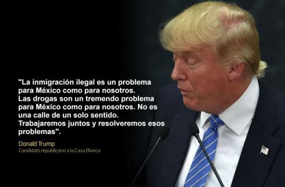 Las frases de Donald Trump en su polémica visita a México