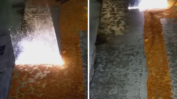 Así se elimina el óxido de un metal con un láser [VIDEO]