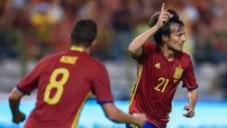 España derrotó 2-0 a Bélgica con doblete de David Silva