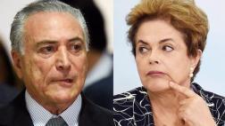 """Temer: Derechos políticos de Dilma son una """"pequeña"""" vergüenza"""