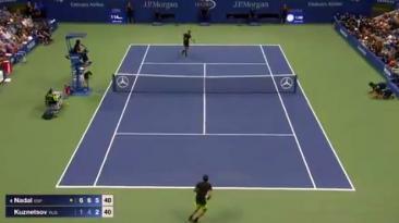 US Open: fascinante punto de Nadal que puso de pie al público