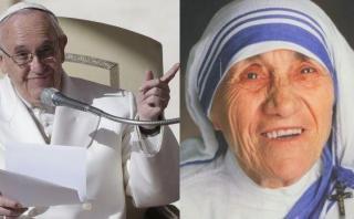 Papa pide al mundo imitar el ejemplo de madre Teresa de Calcuta