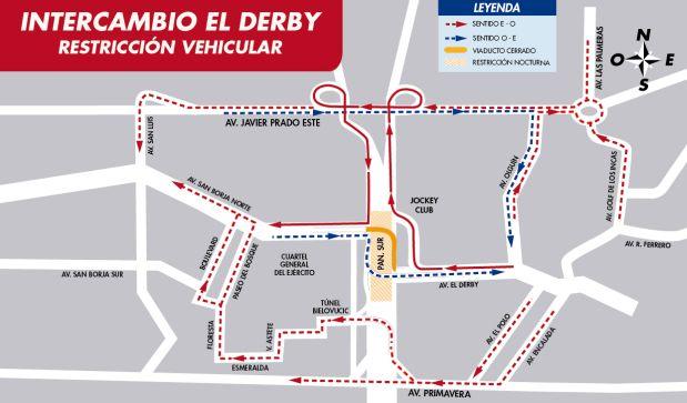 El intercambio vial terminará en 18 meses, tras una inversión de US millones, informó la Municipalidad de Lima. (Rutas de Lima)