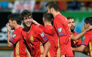 España vapuleó 8-0 a Liechtenstein por Eliminatorias Rusia 2018