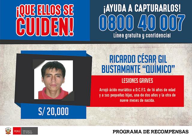 Los agentes policiales lograron capturarlo en un inmueble del pueblo joven Cerropón en Chiclayo. (Ministerio del Interior)