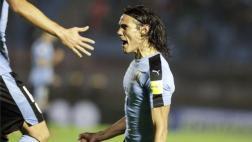 Uruguay: Cavani y su golazo ante Paraguay tras centro de Suárez