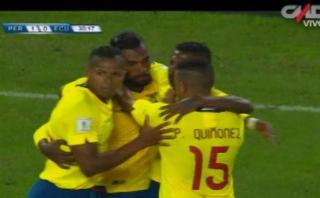 Achilier decretó con este cabezazo el 1-1 ante Perú [VIDEO]