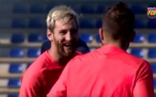 Lionel Messi entrenó con aparente normalidad en Barcelona
