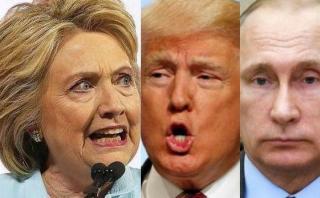 """Clinton: Es """"aterrador"""" que Trump prefiera a Putin y no a Obama"""