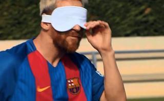 ¿Cómo patearía un penal Lionel Messi si fuese ciego? [VIDEO]